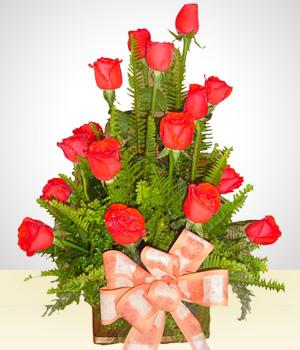 Liberty Arreglo De 18 De Rosas Cumpleaños Sonsonate